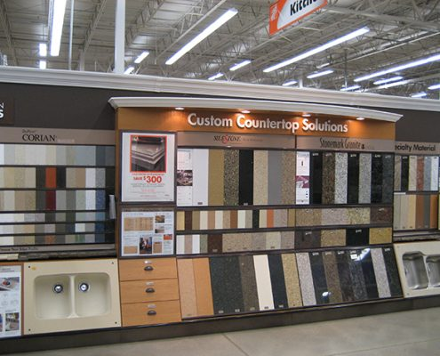 countertop displays for home depot