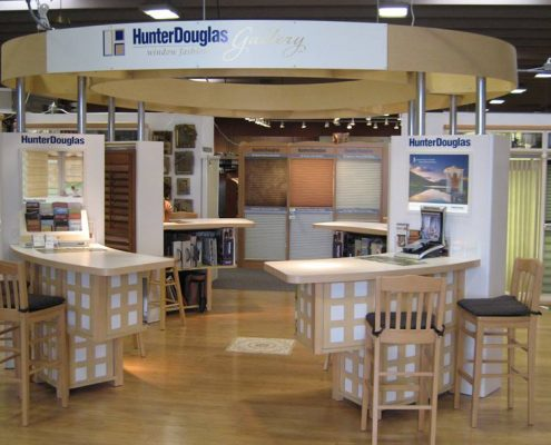store fixtures for blinds and drapery business