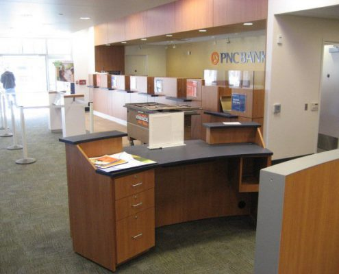 office set up for banks
