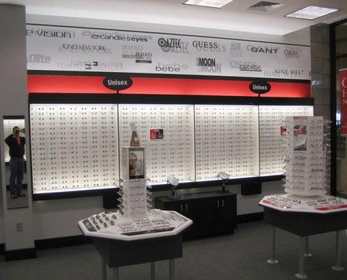 retail rollout for eyeglass store