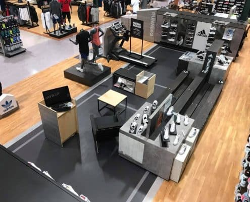 retail displays for footwear - adidas store